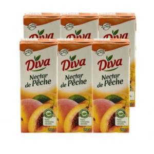6*20CL Nectar de Pèche Diva