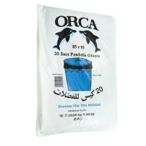 20 Sacs poubelle Orca 85×95