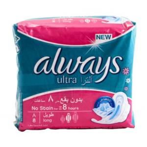 Serviettes périodiques Always Ultra Thin long 8 serviettes