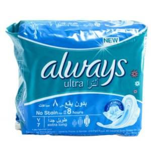 Serviettes périodiques Always Ultra Thin Extra long 7 serviettes